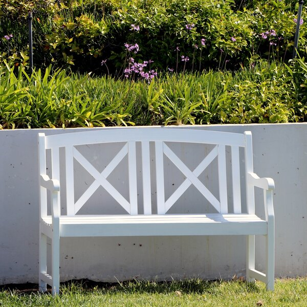 Andromeda Outdoor Wooden Garden Bench by Beachcrest Home Beachcrest Home