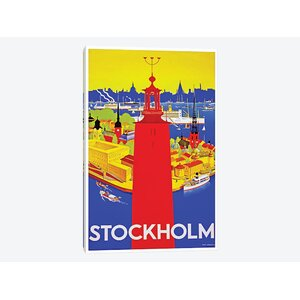 'Stockholm' Vintage Advertisement on Canvas by East Urban Home