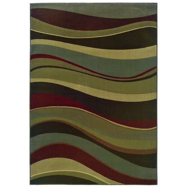 Midland Beige/Green Area Rug by Threadbind