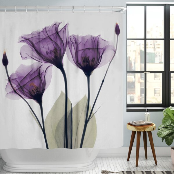Castile Gentian Shower Curtain by Latitude Run