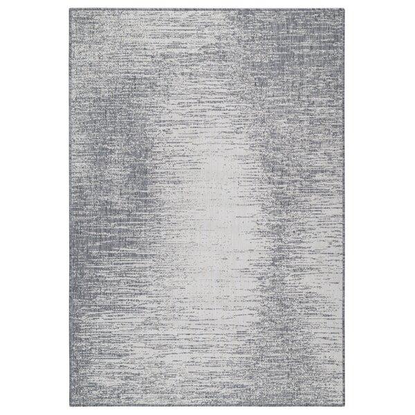 Rubino Abstract Gray Indoor / Outdoor Area Rug