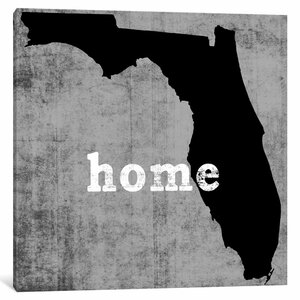 'This is Home Series: Florida ' Graphic Art Print on Canvas by East Urban Home
