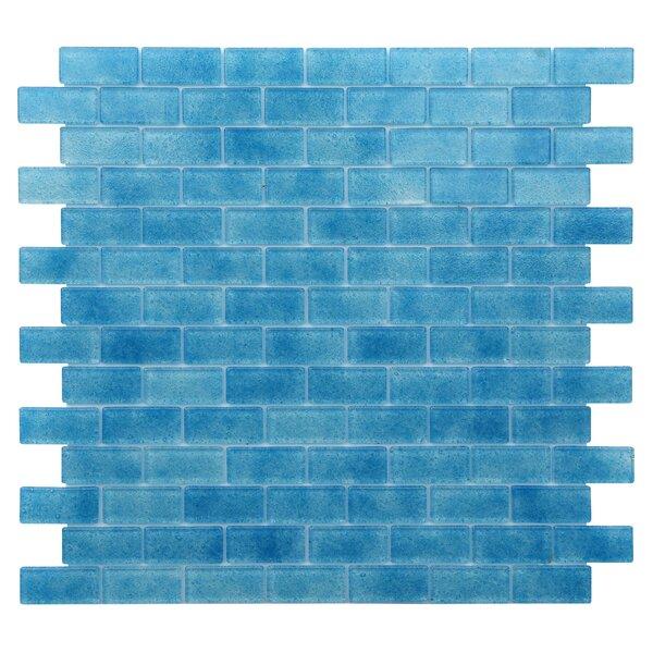 Quartz 0.75 x 1.63 Glass Mosaic Tile in Blue by Kellani