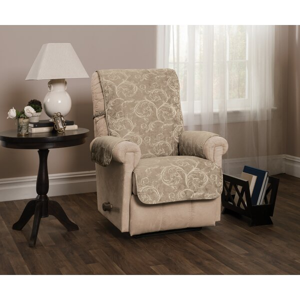 Scroll Jacquard Recliner Slipcover by Winston Porter