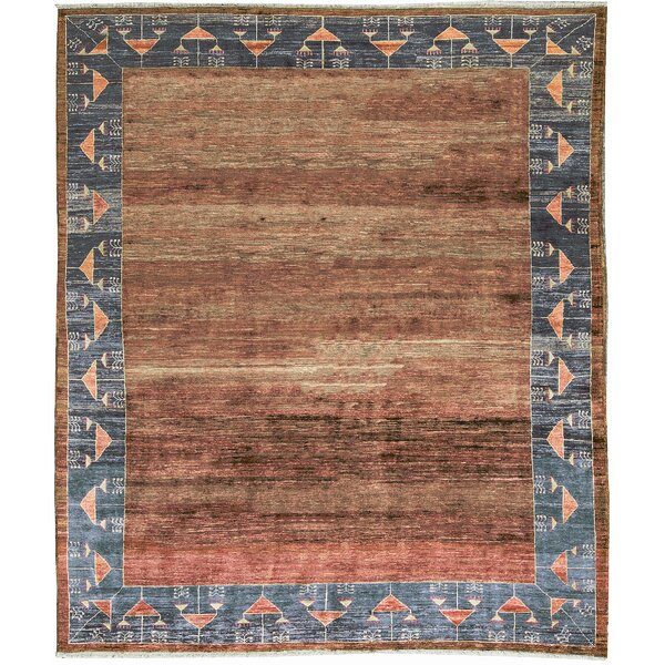 One-of-a-Kind Hand-Knotted Wool Burnt Orange/Gray Area Rug by Bokara Rug Co., Inc.