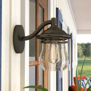 Inexpensive Vineleaf 1-Light Outdoor Wall Lantern By Breakwater Bay