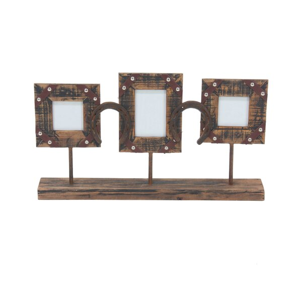 Bayonville Rustic 3-Opening Picture Frame with Stand (Set of 2) by Loon Peak
