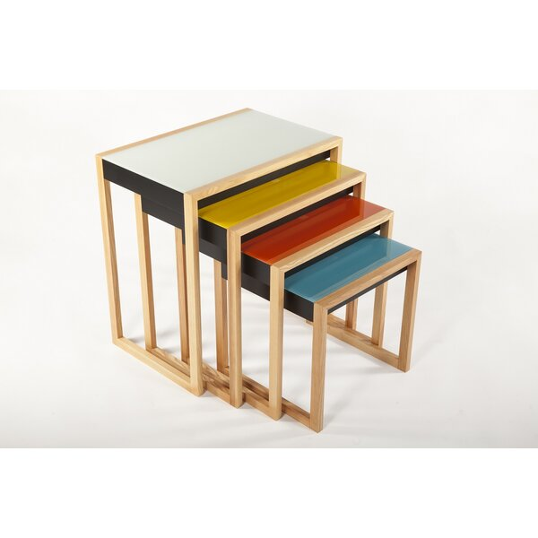Louie 4 Piece Nesting Tables by Latitude Run
