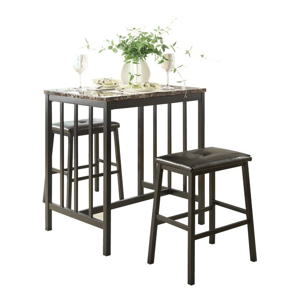 Edgar 3 Piece Counter Height Pub Table Set by Woodhaven Hill Woodhaven Hill