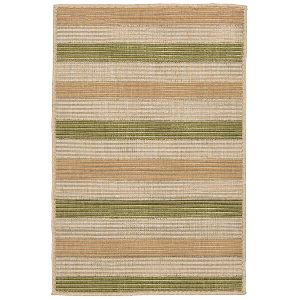 Lambert Multi Stripe Green Indoor/Outdoor Area Rug by Bay Isle Home