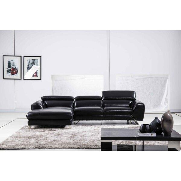 Susannah Leather Sectional By Orren Ellis