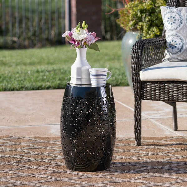 Ifrane Iron Side Table by Bungalow Rose