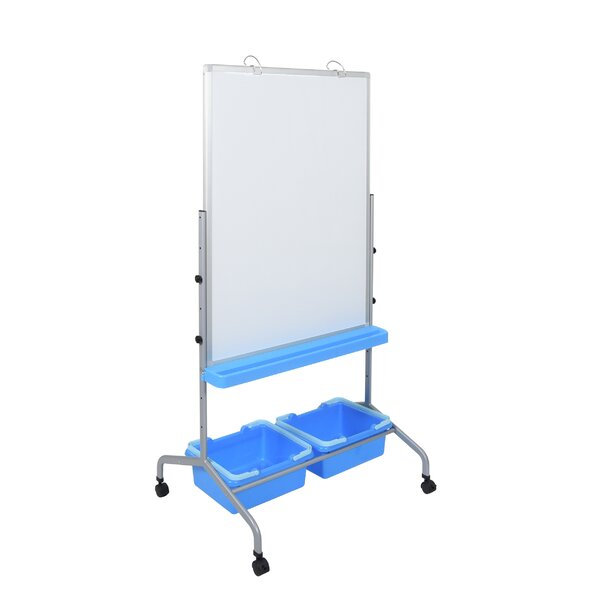 Magnetic/Reversible Whiteboard, 31 x 69 by Luxor