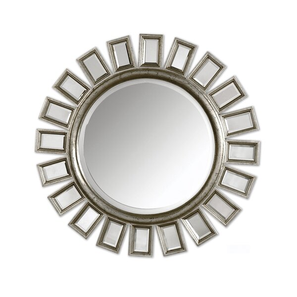 Annette Sunflower Wall Mirror by Rosdorf Park