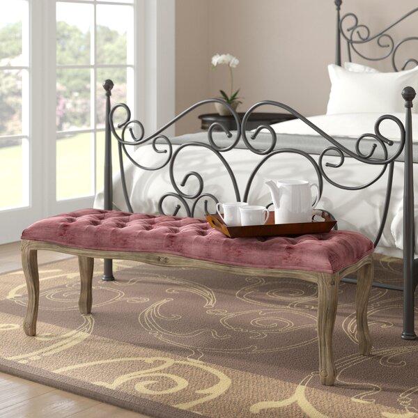 Burcham Velvet Bench by Fleur De Lis Living