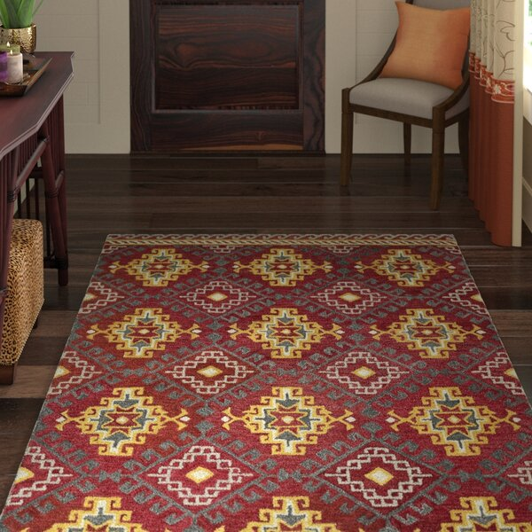 Kasa Red Area Rug by World Menagerie