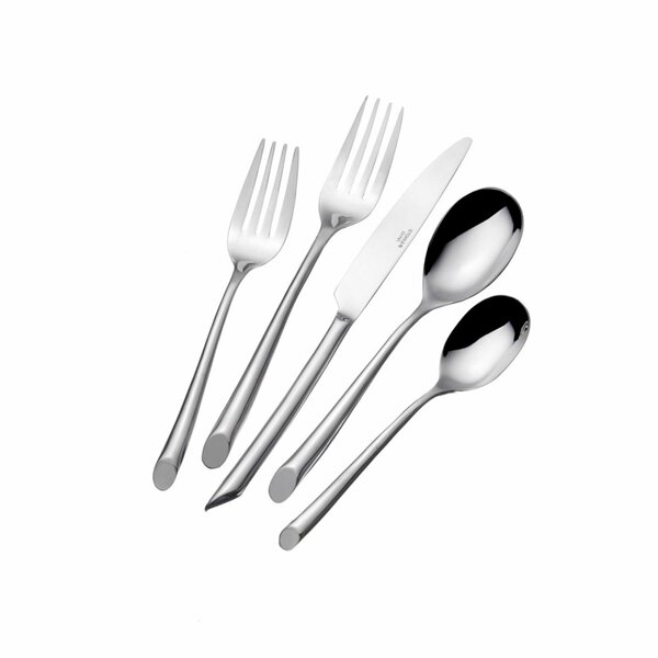 Wave 20 Piece 18/0 Stainless Steel Flatware Set, Service for 4 by Towle Silversmiths