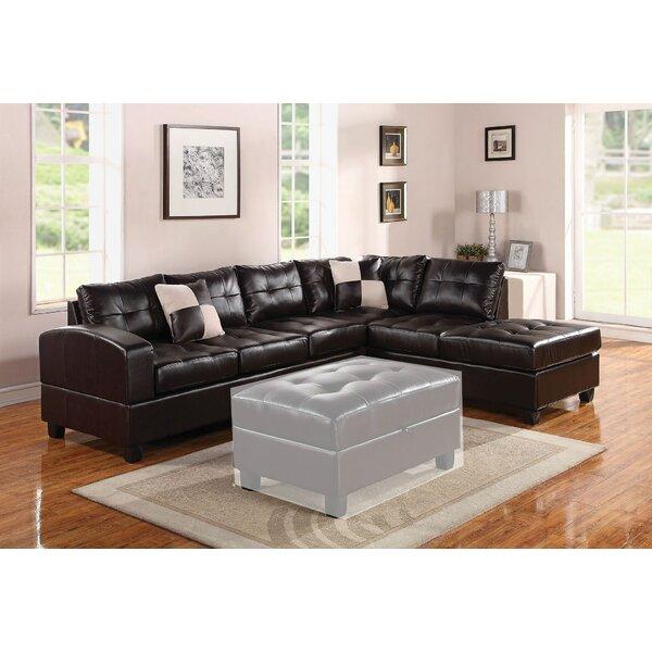 Gaertner Bonded Leather Reversible Sectional by Red Barrel Studio