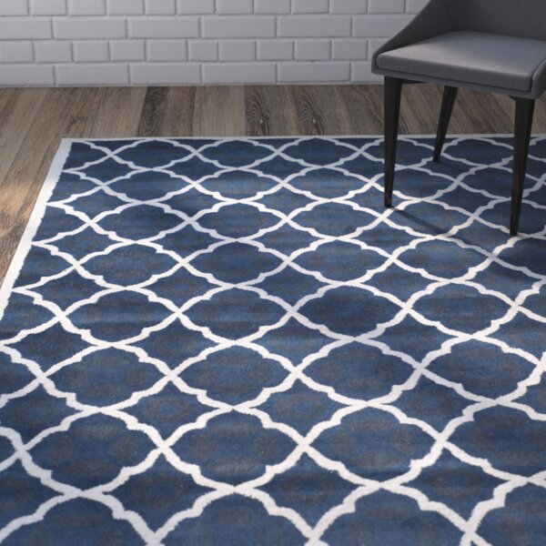 Wilkin Blue/Ivory Moroccan Area Rug by Wrought Studio