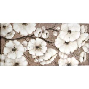 White Blossoms by Tina O. Painting on Wrapped Canvas by Hobbitholeco.