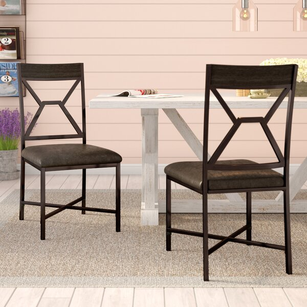 Bairoil Back Side Chair (Set of 2) by Three Posts