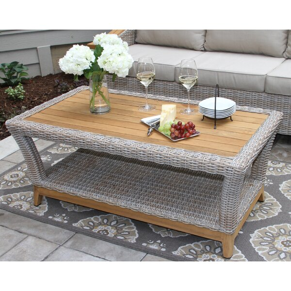 Asta Wicker & Teak Coffee Table by Birch Lane™