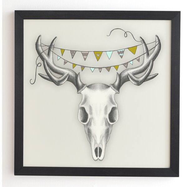 Skull Framed Graphic Art by Latitude Run