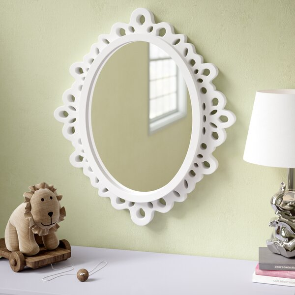 Oval Wood Lace Wall Mirror by Viv + Rae