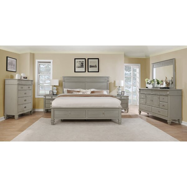Vasilikos Solid Wood Construction Platform 5 Piece Bedroom Set by Beachcrest Home