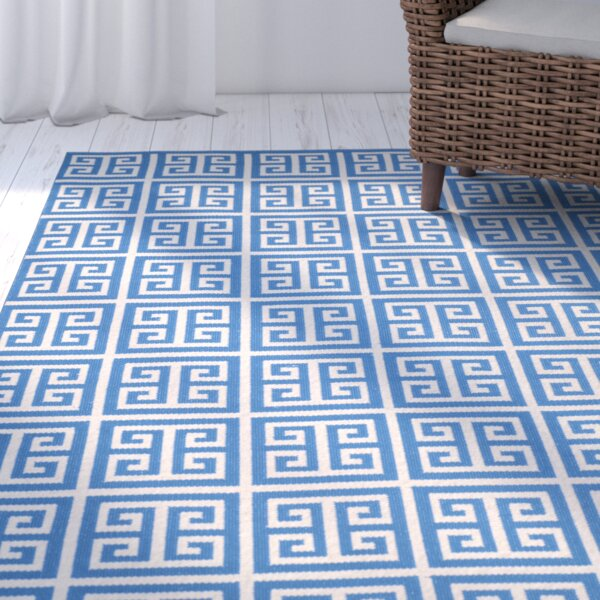 Royalton Hand-Woven Blue/Ivory Area Rug by Breakwater Bay