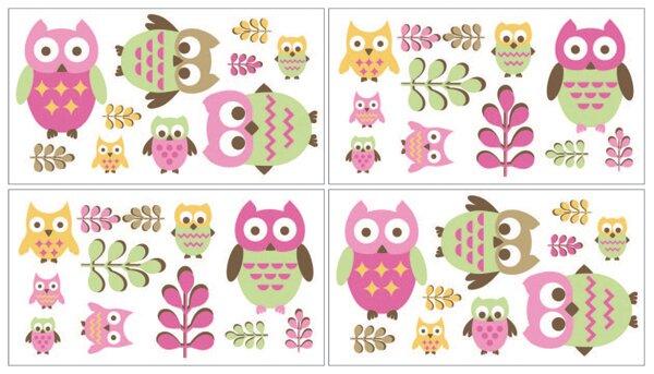 Happy Owl Wall Decal by Sweet Jojo Designs