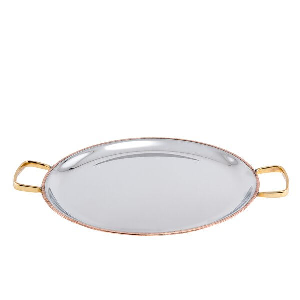 2-Ply Solid Copper / Stainless Steel Embossed Pattern Base Flat Tray by Old Dutch International