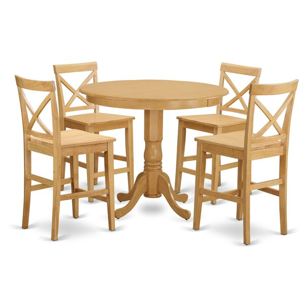 Trenton 5 Piece Counter Height Pub Table Set by East West Furniture