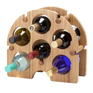 Bamboo Arch 6 Bottle Tabletop Wine Rack by Oenophilia