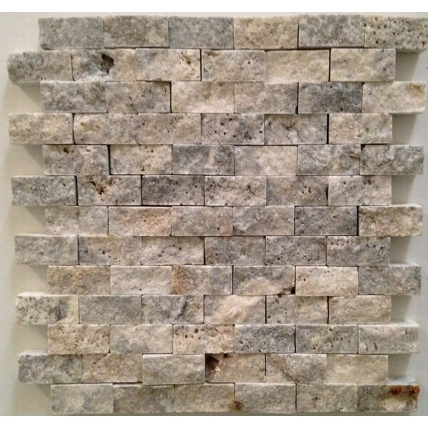 1 x 2 Travertine Splitface in Silver/Gray by Ephesus Stones