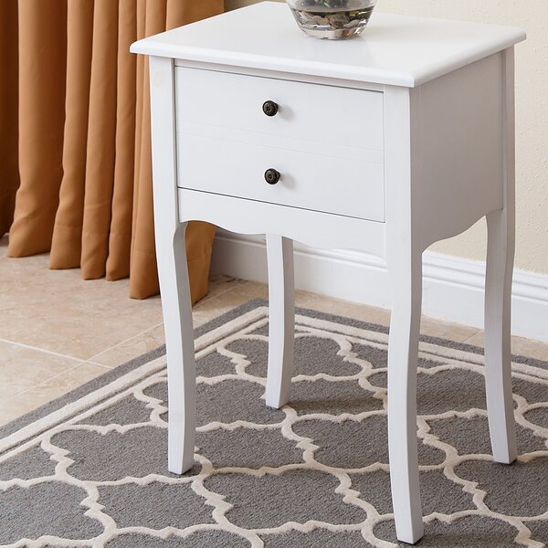 Corkey South Solid Wood End Table with Storage by Breakwater Bay Breakwater Bay