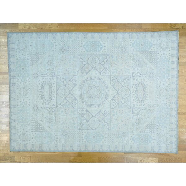 One-of-a-Kind Best Hand-Knotted Ivory Wool Area Rug by Isabelline