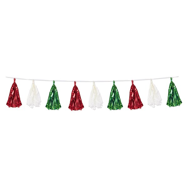 Metallic and Tissue Tassel Garland (Set of 3) by East Urban Home