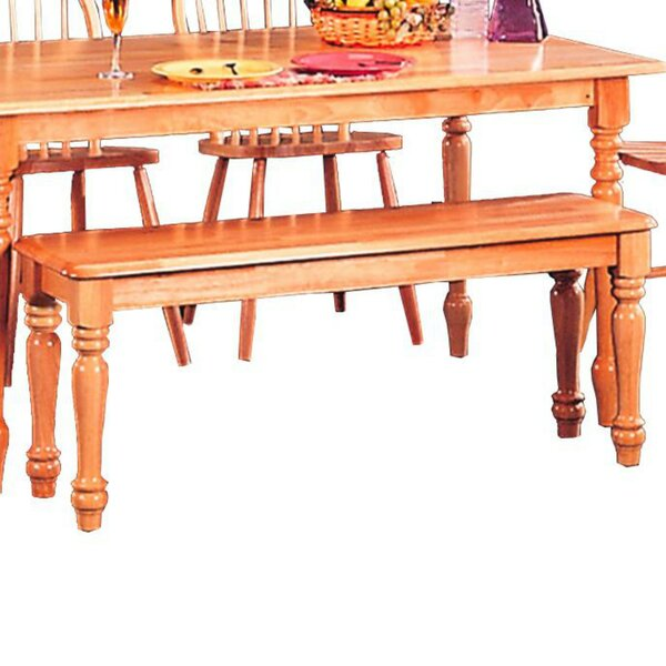 Harms Transitional Dining Wood Bench by August Grove