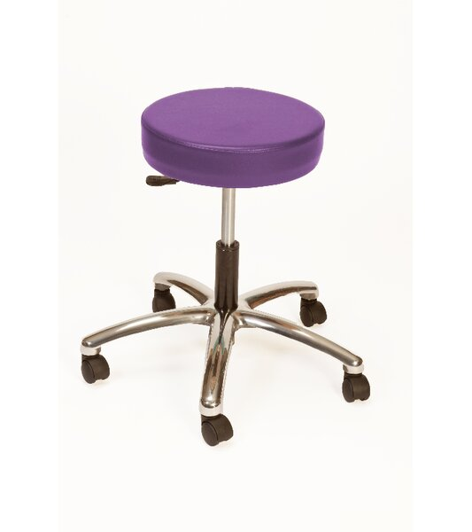 Strother Height Adjustable Lab Stool with Duel Wheel