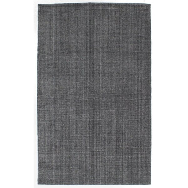 Don Hand-Knotted Dark Gray Area Rug by Latitude Run