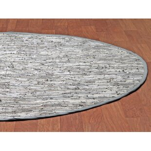 Sandford Flatweave Cotton Grey/White Area Rug by Latitude Run
