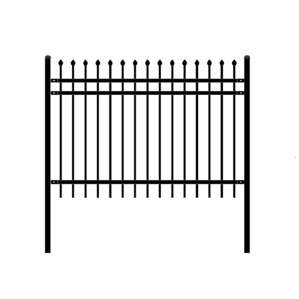 6 ft. W Rome DIY Unassembled Steel Fence Panel (Set of 4) by ALEKO