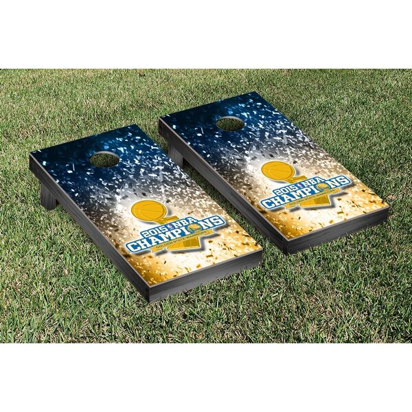 2015 NBA Champions Golden State Warriors Confetti Version Cornhole Game Set by Victory Tailgate
