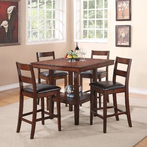 Santana 5 Piece Counter Height Dining Set by Brassex