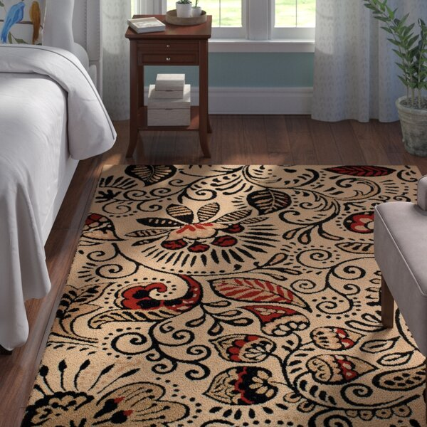 Brent Ivory/Black Area Rug by Andover Mills