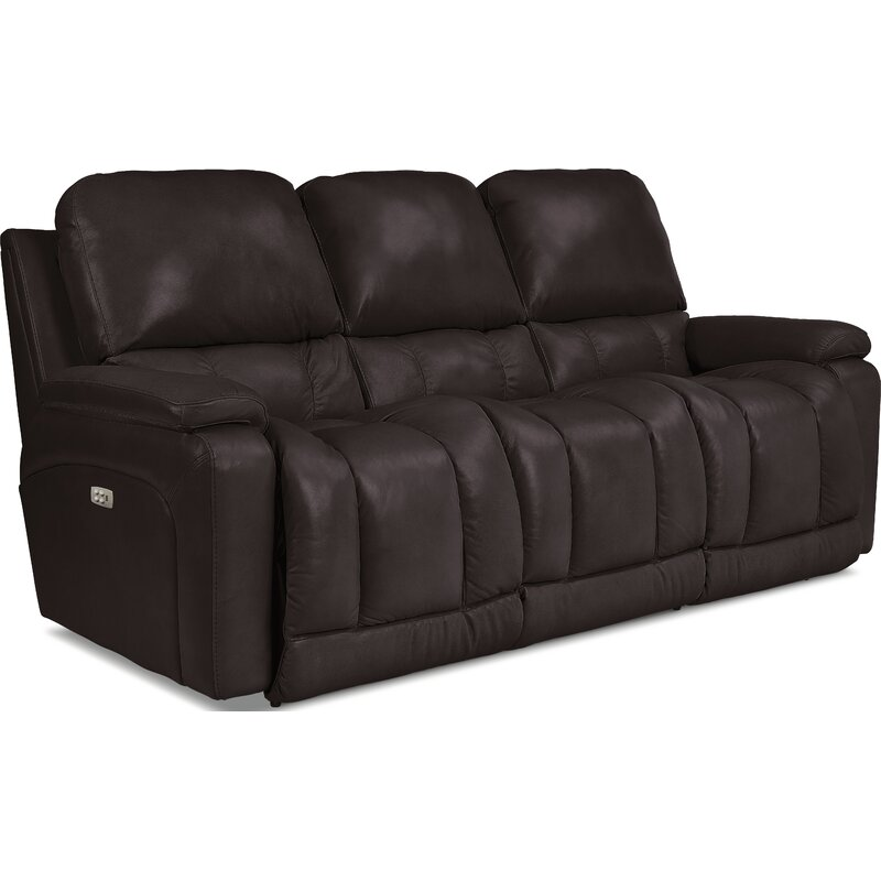 La Z Boy Greyson Leather Reclining Sofa