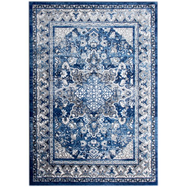 Rosie Blue/Gray Area Rug by Bungalow Rose