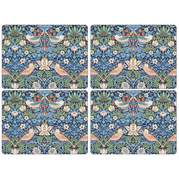 Morris and Co. Strawberry Thief Placemat (Set of 4) by Pimpernel