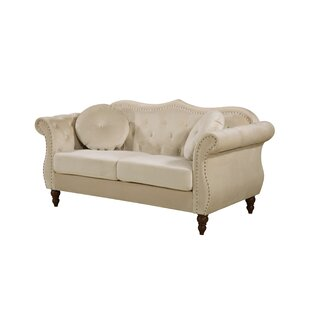 Bridges Classic Nailhead Chesterfield Loveseat